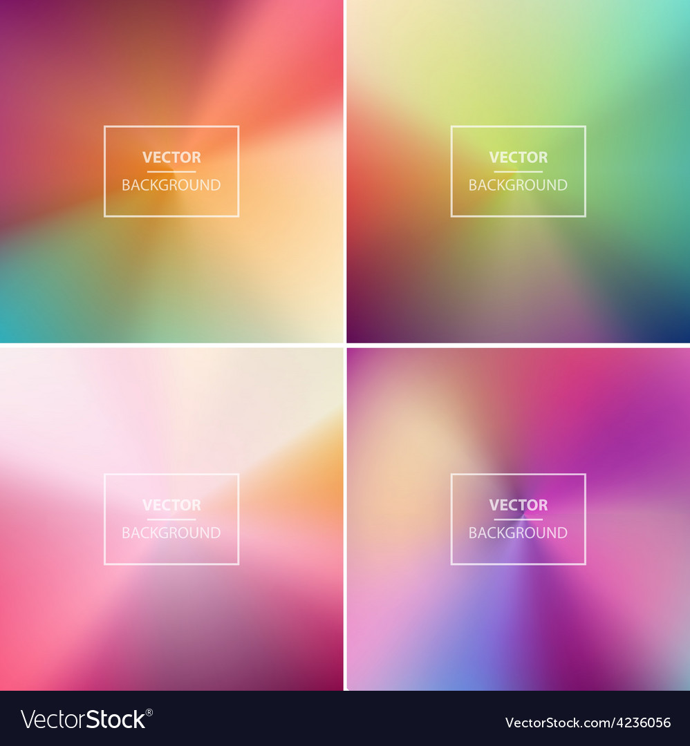 Abstract colorful blurred backgrounds vector   Price: 1 Credit (USD $1)