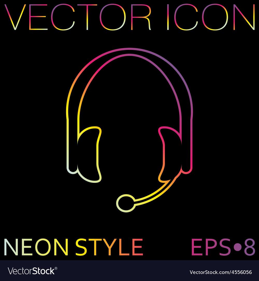 Customer support headphone icon vector | Price: 1 Credit (USD $1)