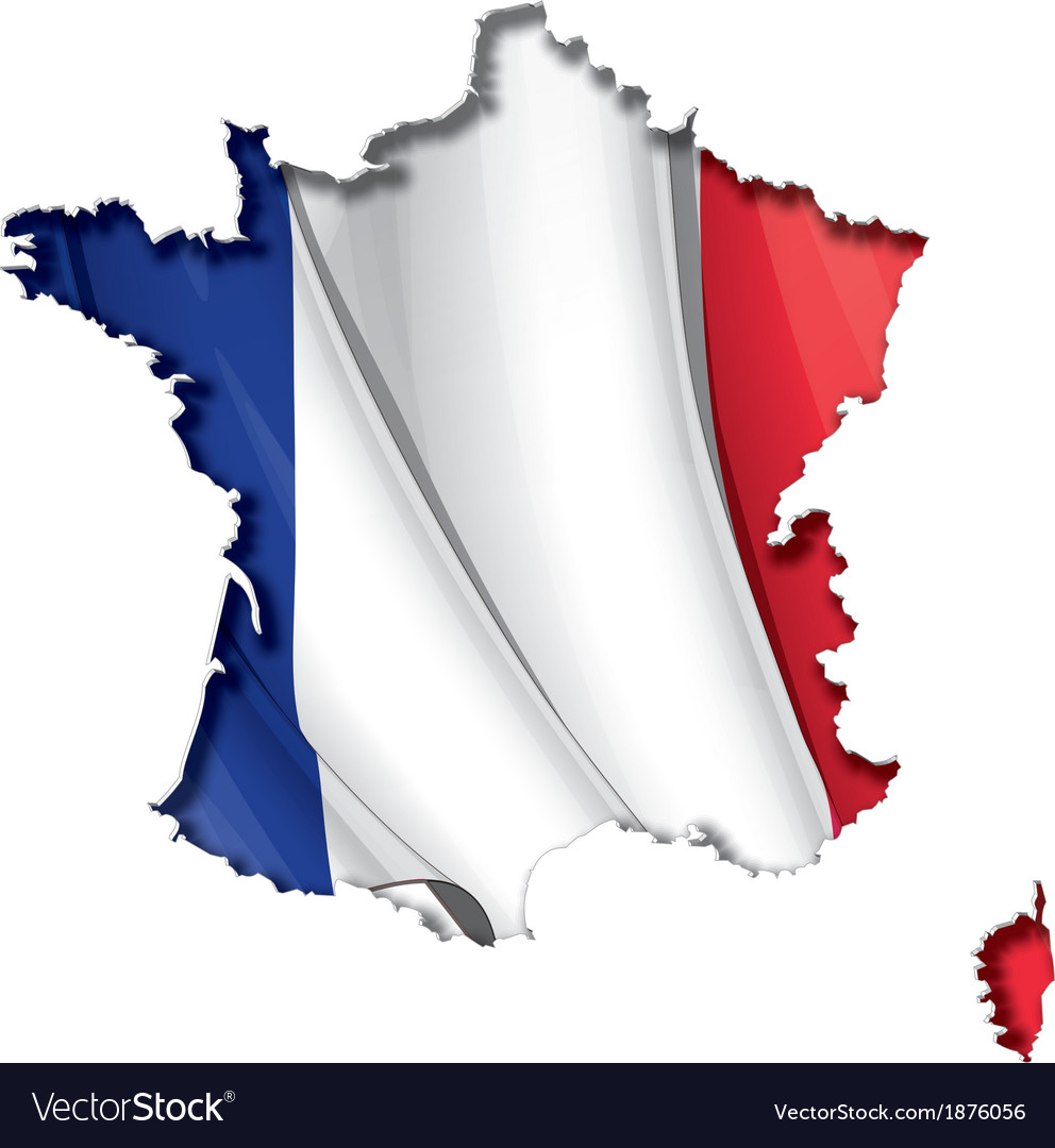 French map flag vector | Price: 1 Credit (USD $1)