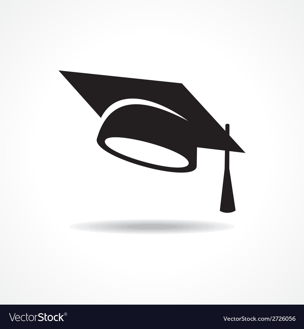 Graduation cap symbol vector | Price: 1 Credit (USD $1)