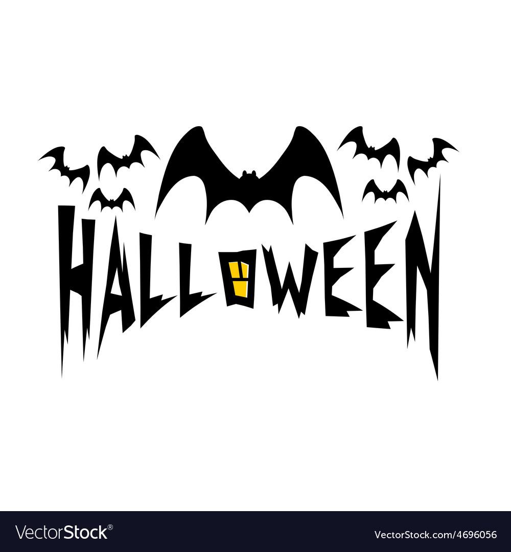 Halloween with bats vector | Price: 1 Credit (USD $1)