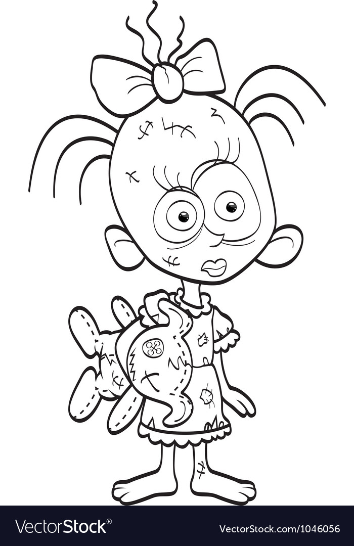 Little zombie-girl vector | Price: 1 Credit (USD $1)