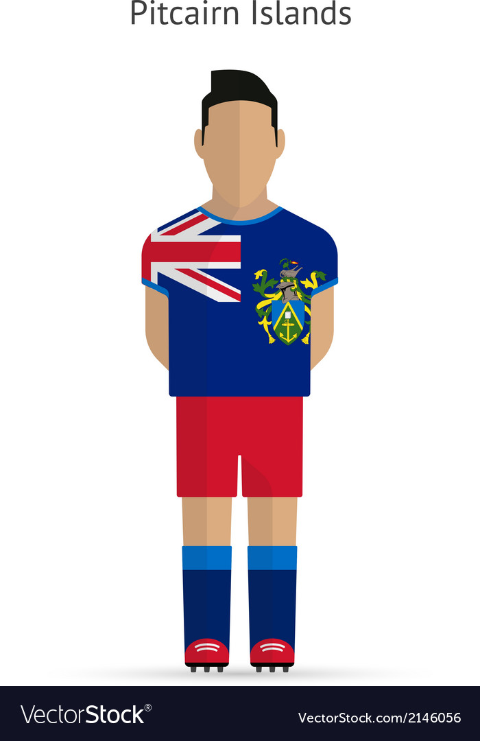 Pitcairn islands football player soccer uniform vector | Price: 1 Credit (USD $1)