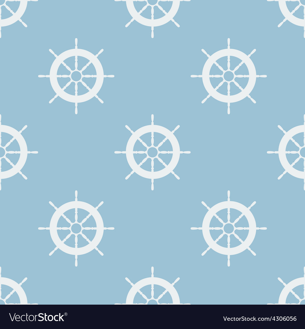 Seamless pattern with helm of ship vector   Price: 1 Credit (USD $1)