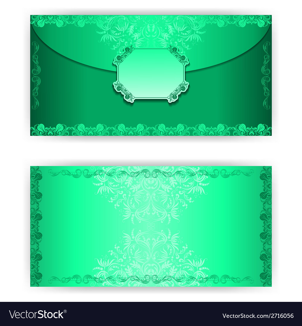 Vintage paper horizontal invitation card vector | Price: 1 Credit (USD $1)