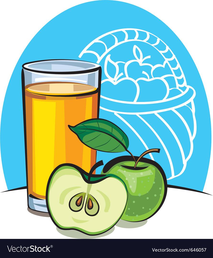 Apple juice vector | Price: 3 Credit (USD $3)
