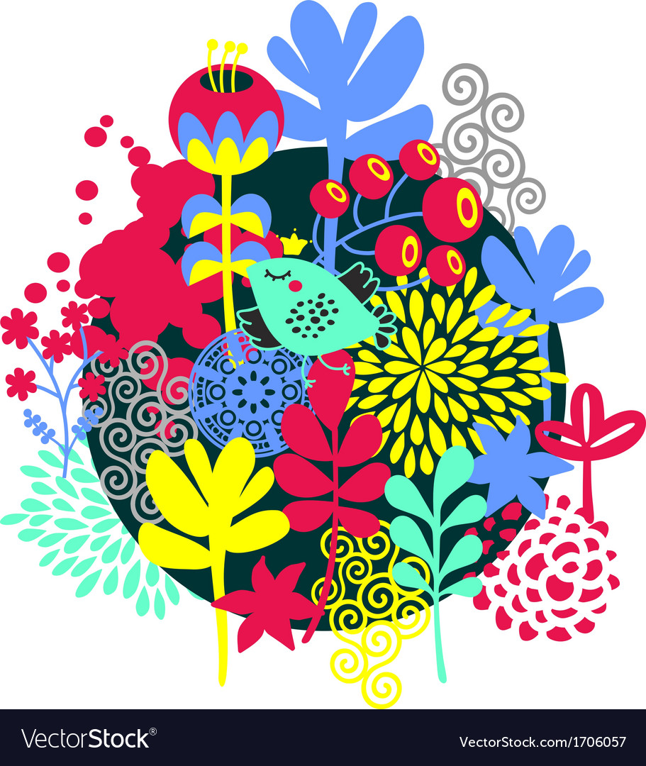 Birds flowers and other nature vector | Price: 1 Credit (USD $1)