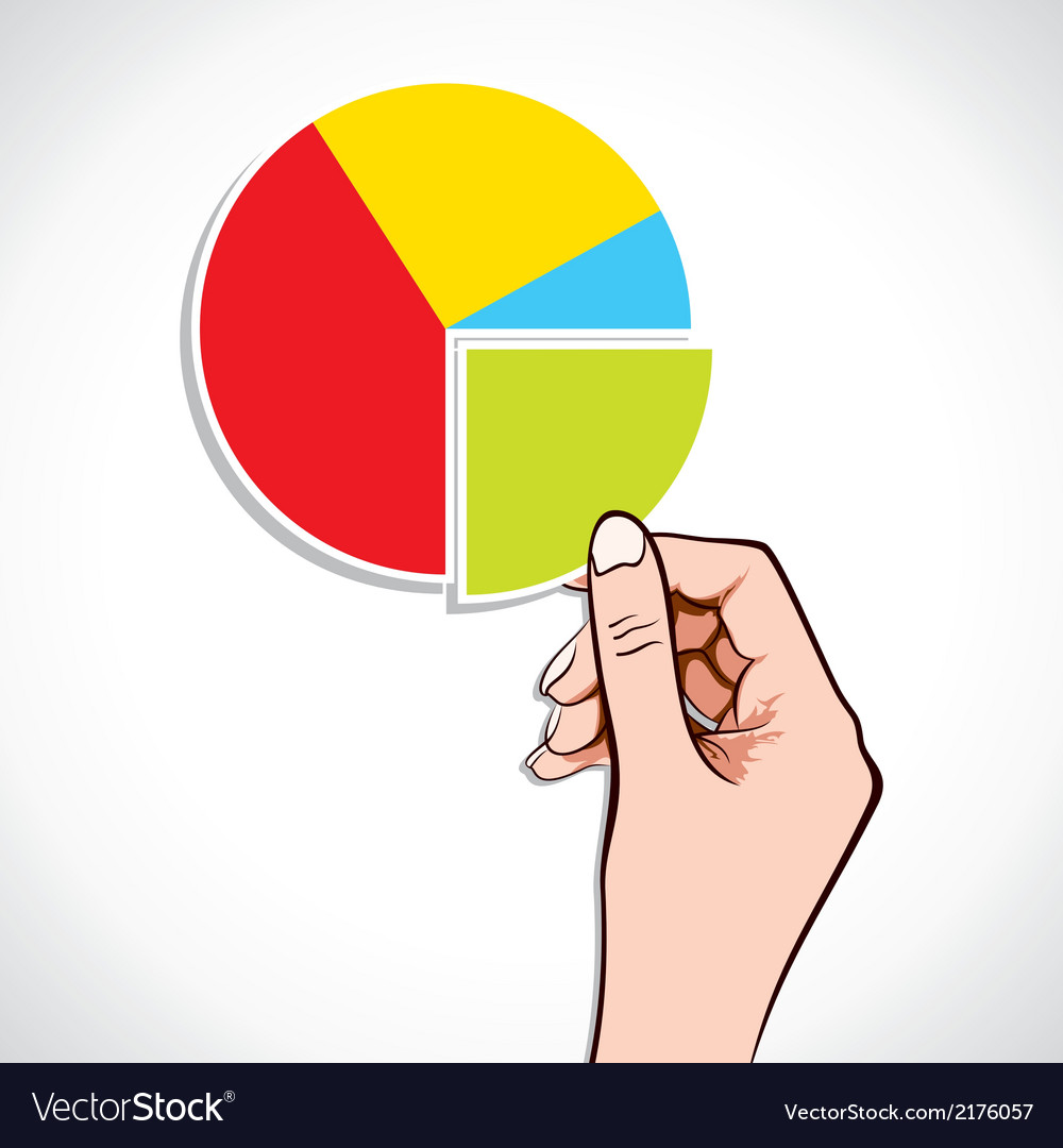 Business graph in hand vector | Price: 1 Credit (USD $1)