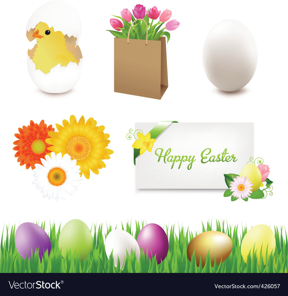 Easter icons vector   Price: 1 Credit (USD $1)