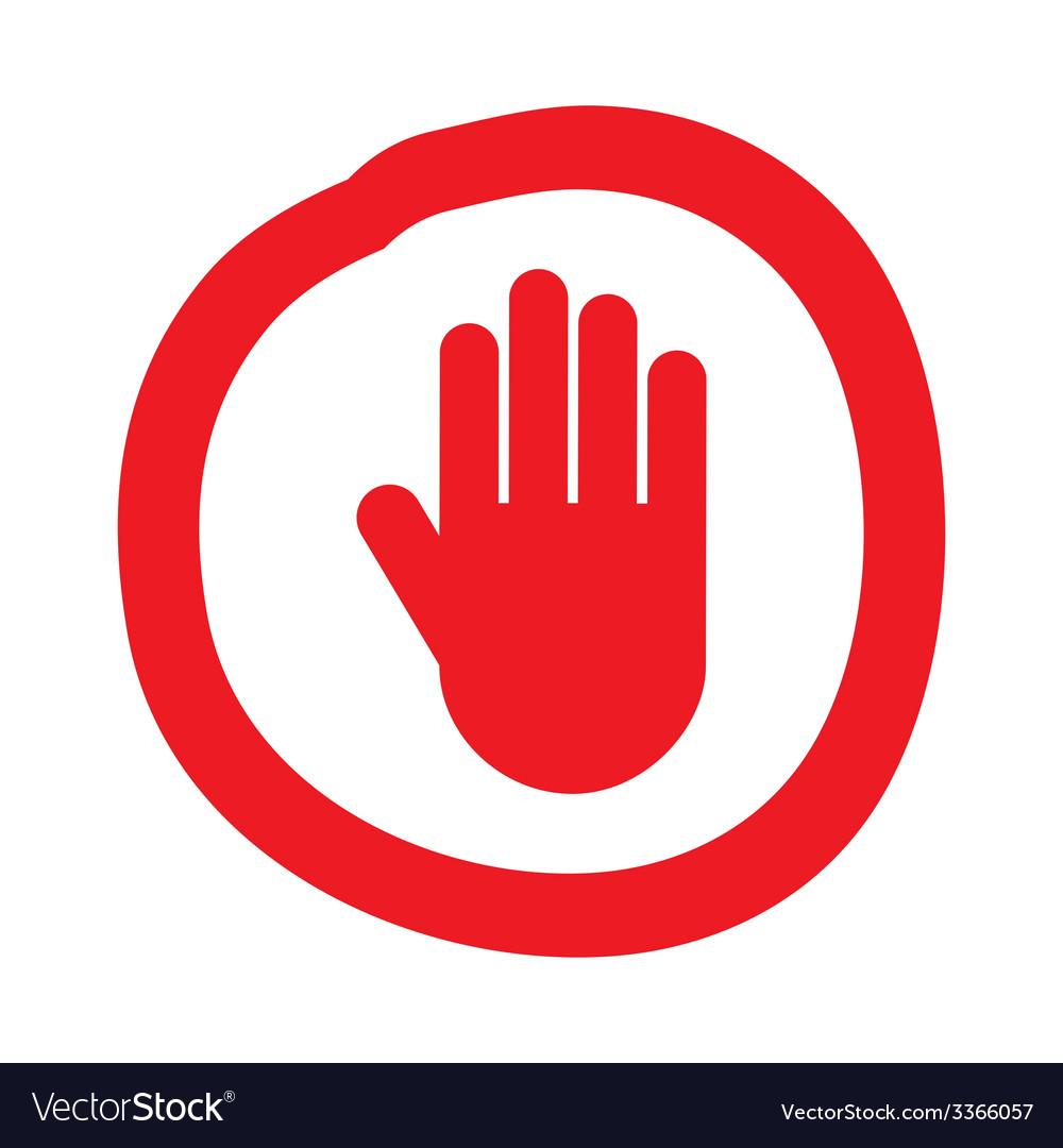 Hand stop design vector | Price: 1 Credit (USD $1)
