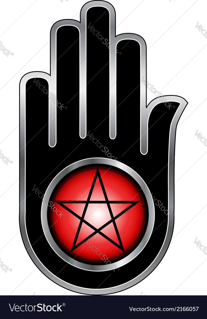 Hand with a pentacle vector | Price: 1 Credit (USD $1)