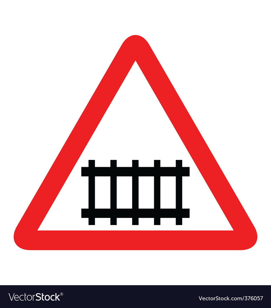 Illustration of road sign railroad vector | Price: 1 Credit (USD $1)