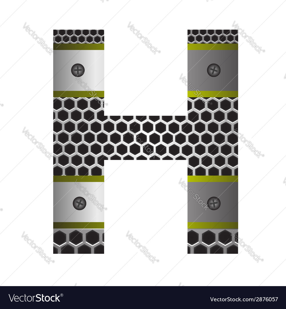 Perforated metal letter h vector | Price: 1 Credit (USD $1)