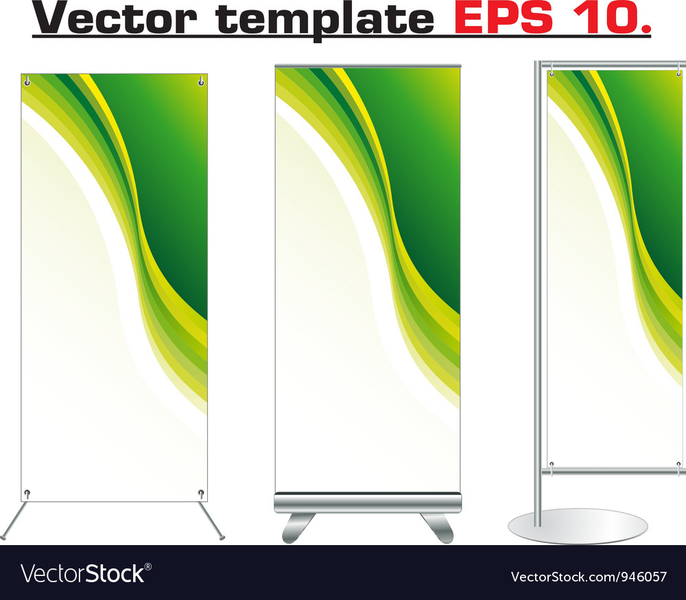 Set of banner stand display vector