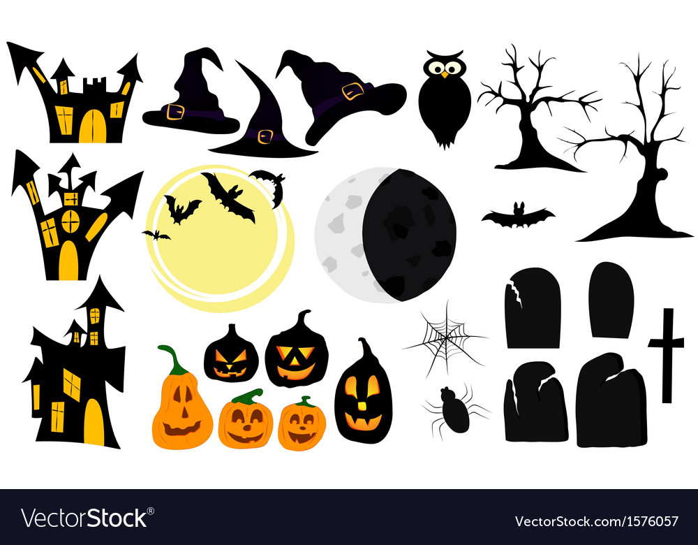 Set of graphic elements and symbols for halloween vector   Price: 1 Credit (USD $1)