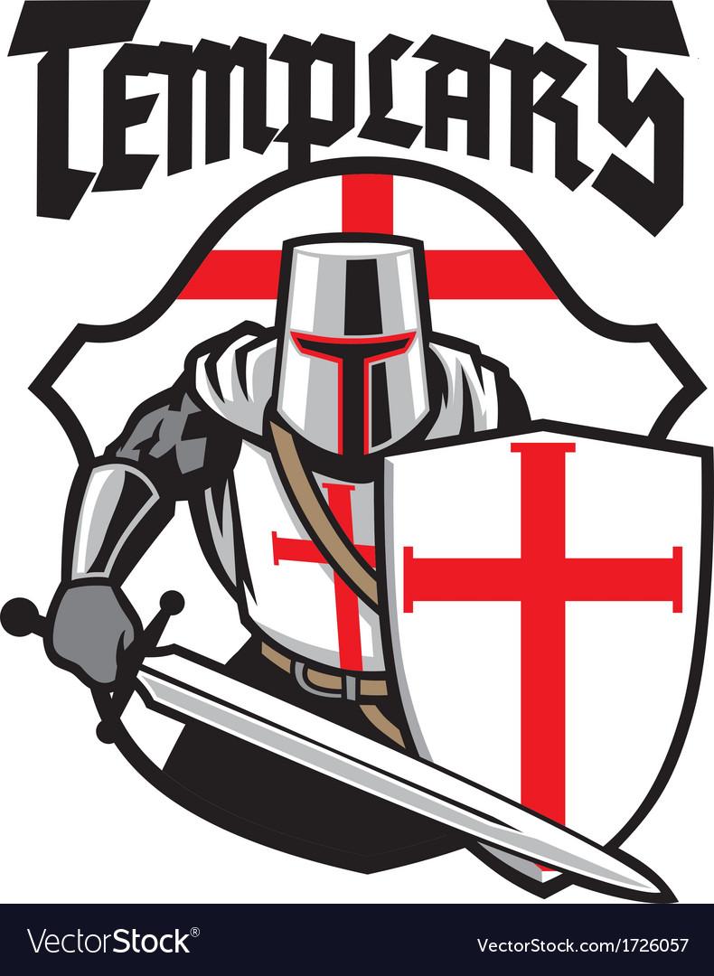 Templar knight mascot vector | Price: 1 Credit (USD $1)