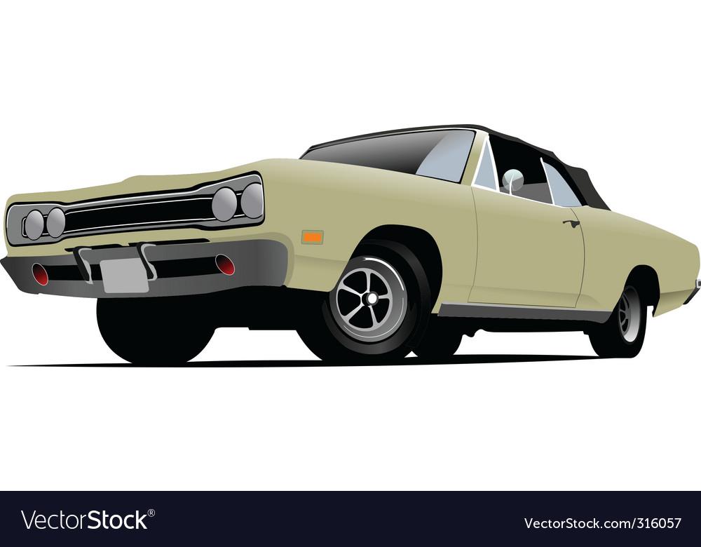 Vintage car vector | Price: 3 Credit (USD $3)