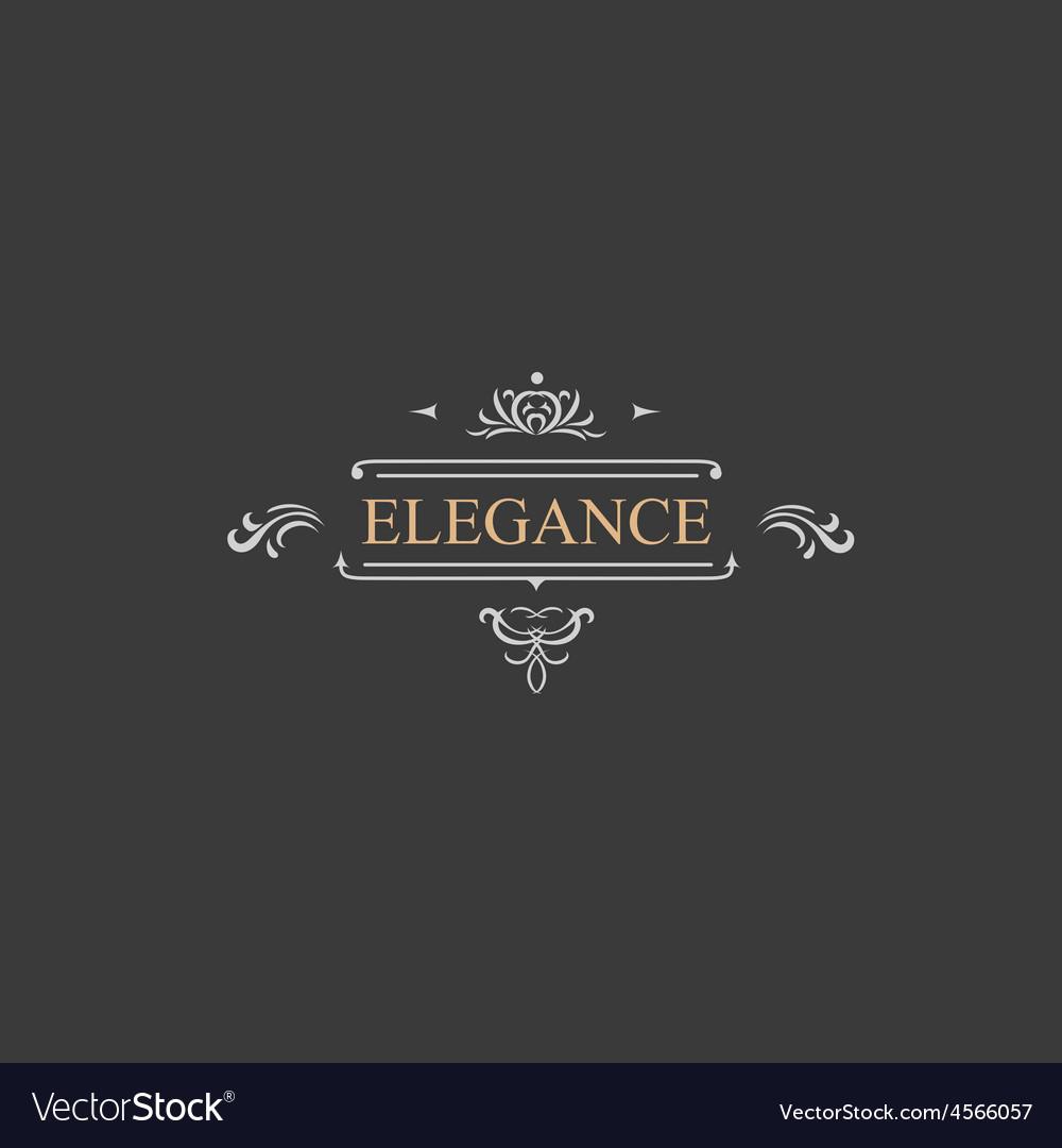 Vintage retro label and luxury logo restaurant vector | Price: 1 Credit (USD $1)