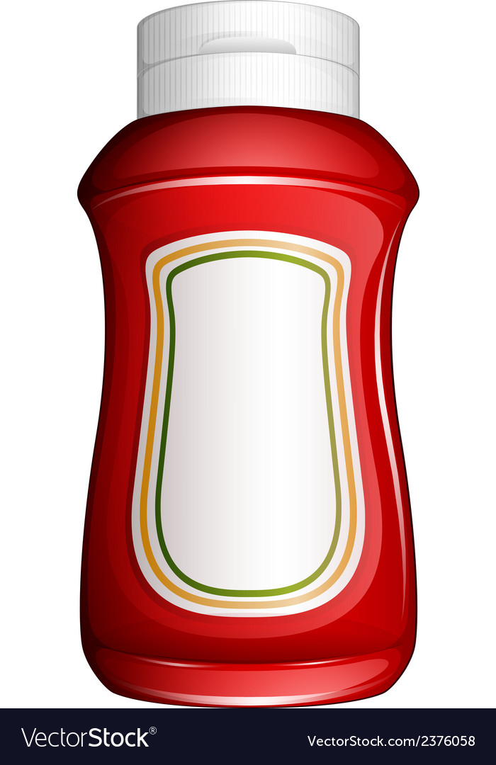 A red bottle vector | Price: 1 Credit (USD $1)