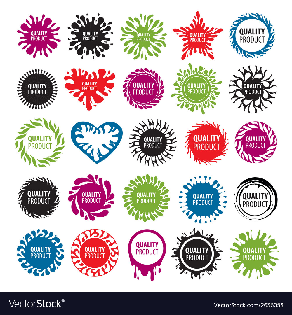 Biggest collection of logos with blots vector | Price: 1 Credit (USD $1)