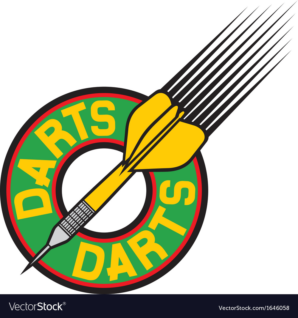 Darts label vector | Price: 1 Credit (USD $1)