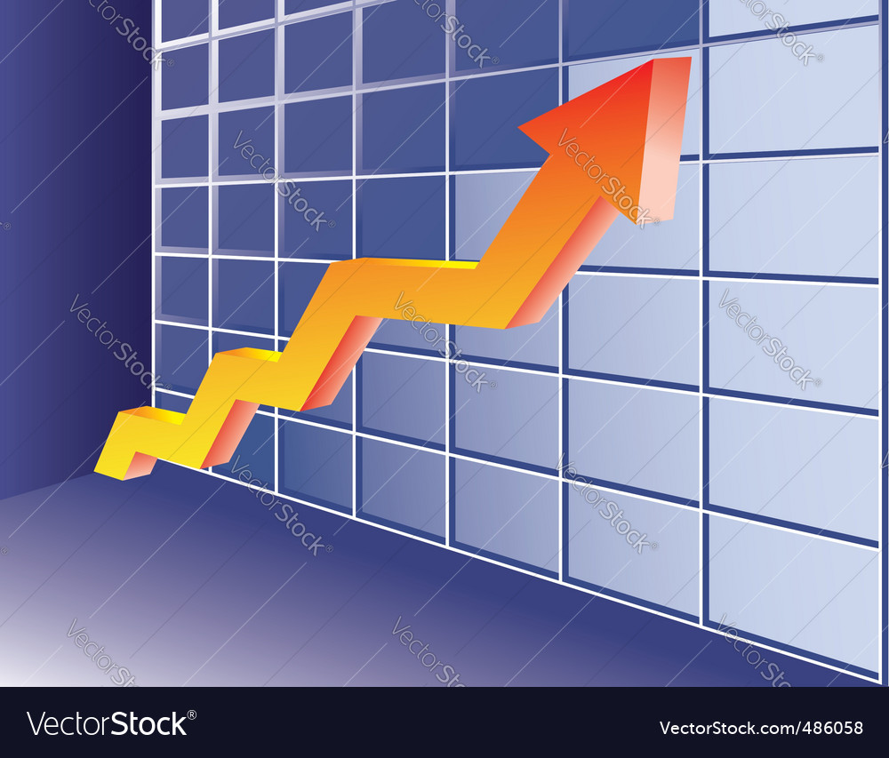 Growing trend vector | Price: 1 Credit (USD $1)