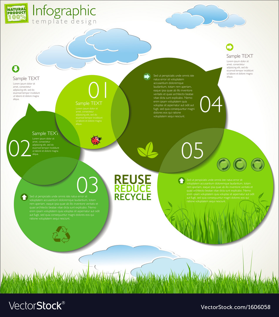Modern ecology design layout vector | Price: 1 Credit (USD $1)