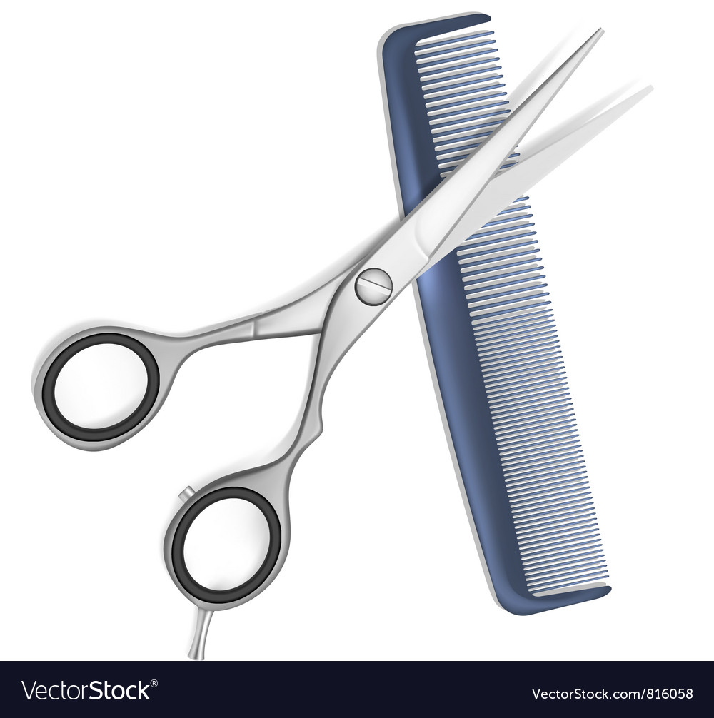 Scissors and comb for hair vector | Price: 1 Credit (USD $1)