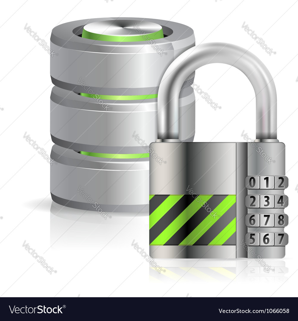 Security database concept vector | Price: 1 Credit (USD $1)