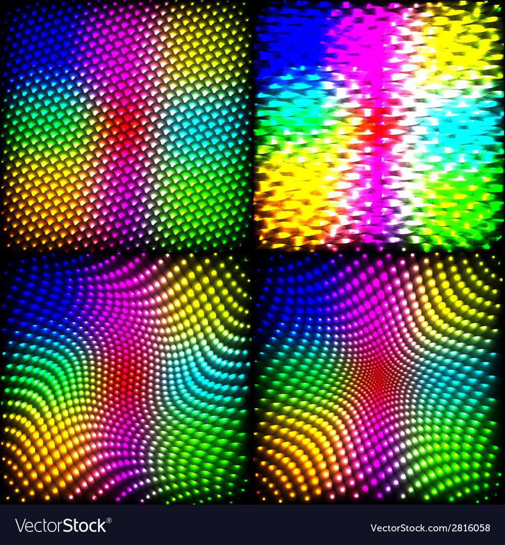 Set abstract spectrum dark background colored vector | Price: 1 Credit (USD $1)