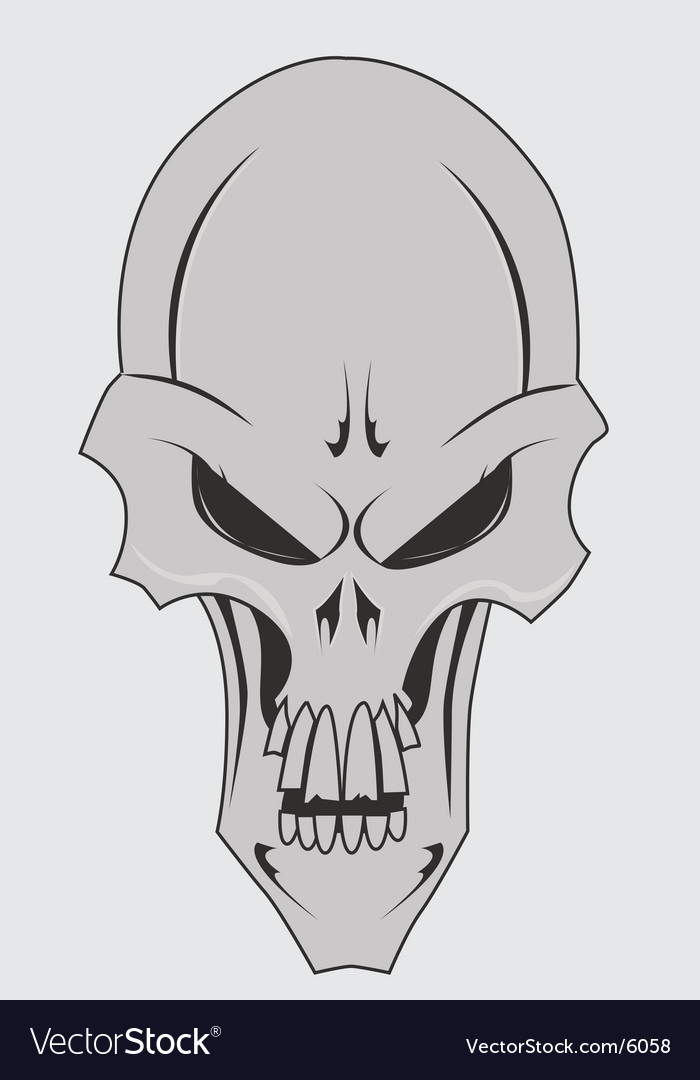 Skull with jaw vector | Price: 1 Credit (USD $1)