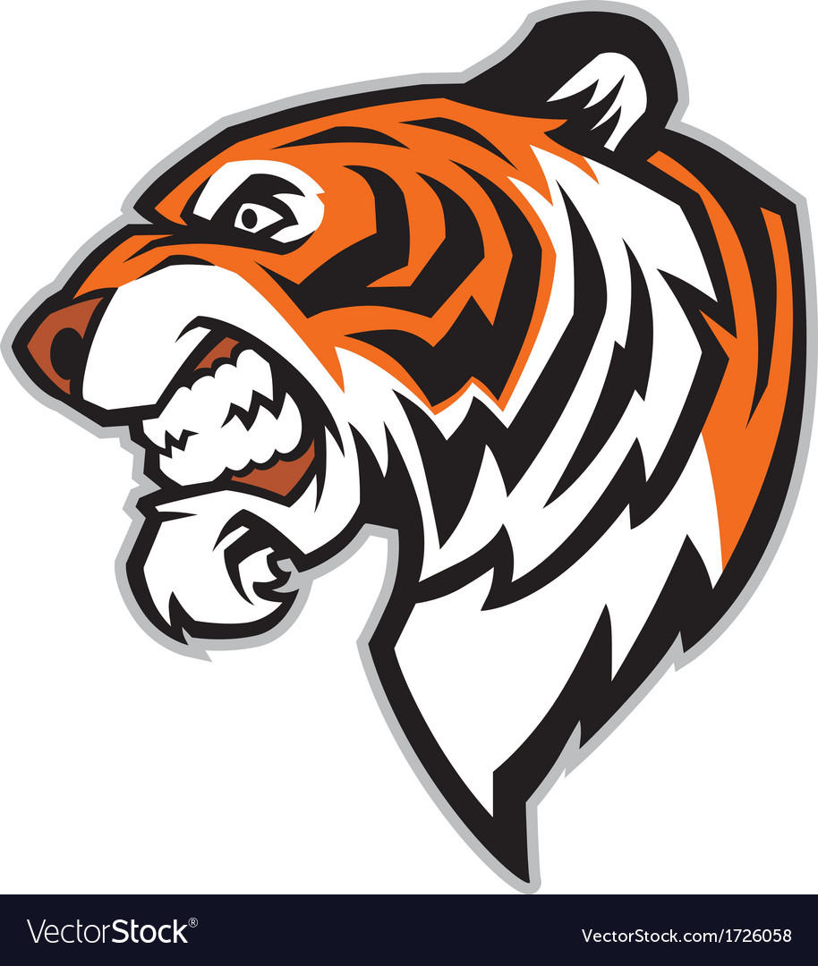 Tiger head mascot vector | Price: 1 Credit (USD $1)