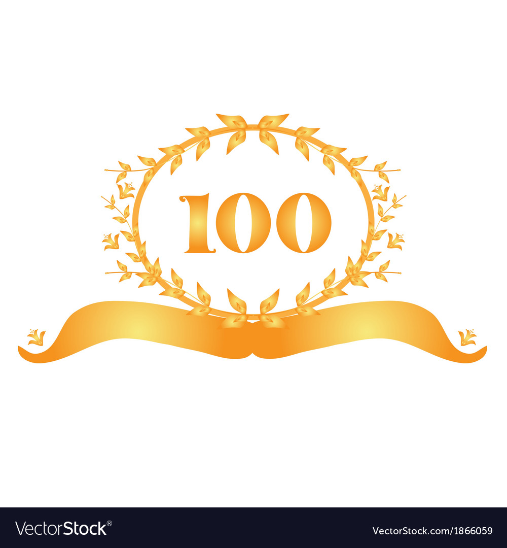 100th anniversary banner vector | Price: 1 Credit (USD $1)