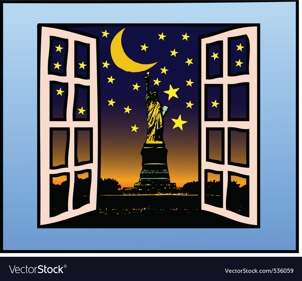 A window on freedom vector | Price: 1 Credit (USD $1)