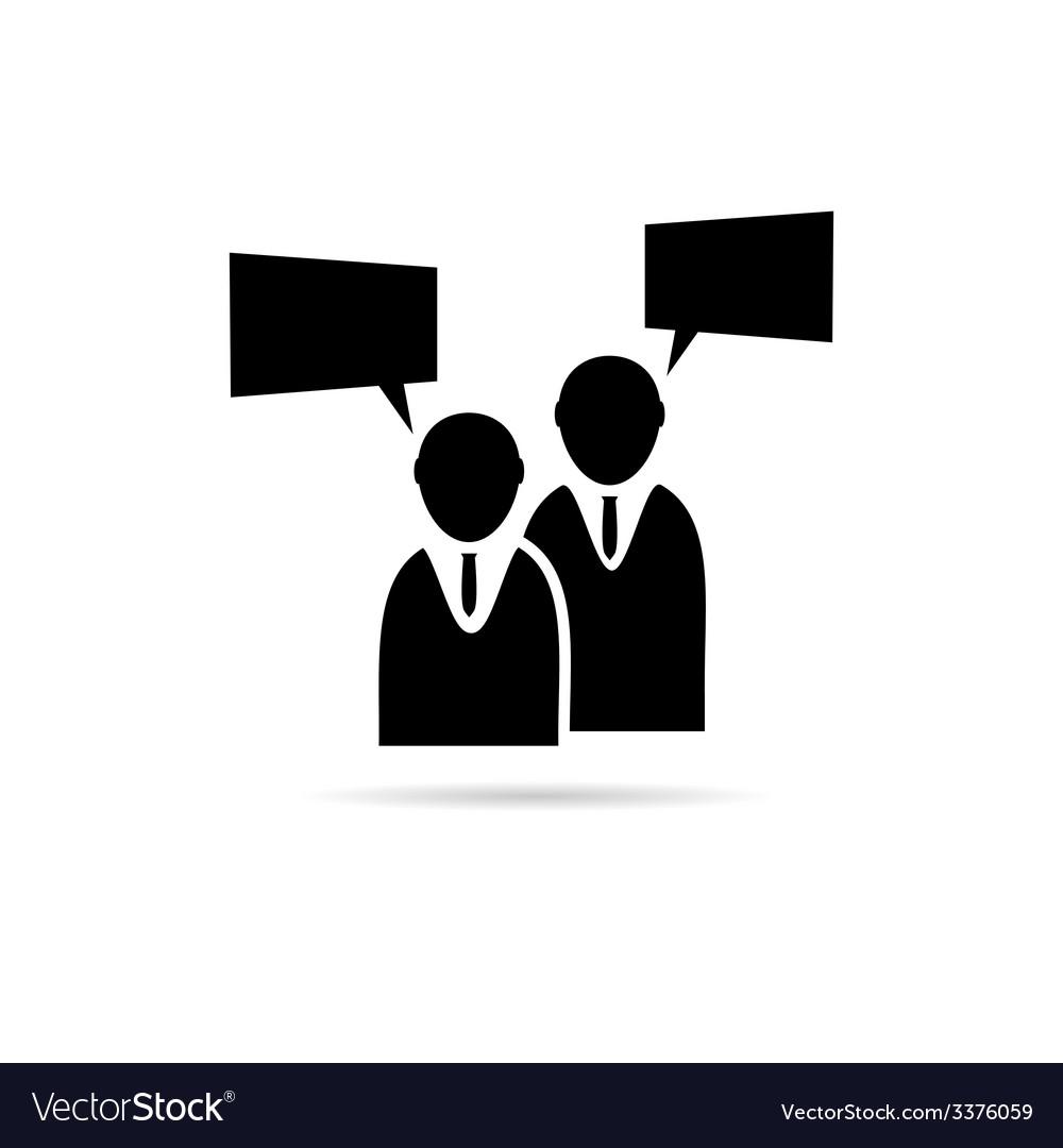 Businessman icon silhouette vector | Price: 1 Credit (USD $1)