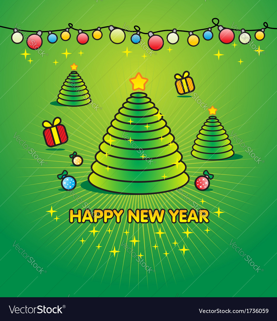 Christmas green background - for xmas invitation vector | Price: 1 Credit (USD $1)