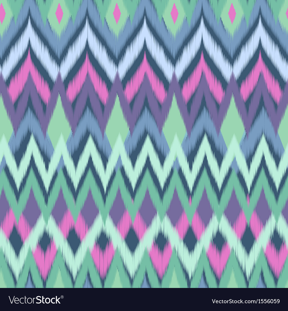 Cool green ikat vector | Price: 1 Credit (USD $1)