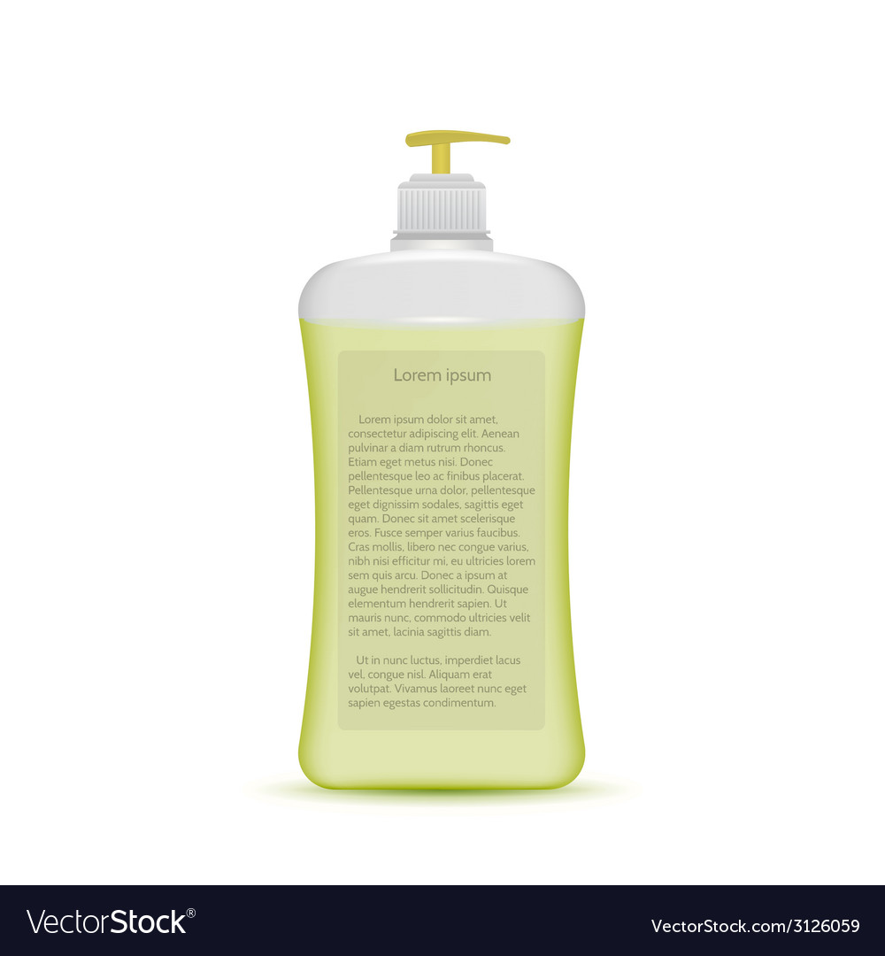 Liquid soap bottle vector | Price: 1 Credit (USD $1)