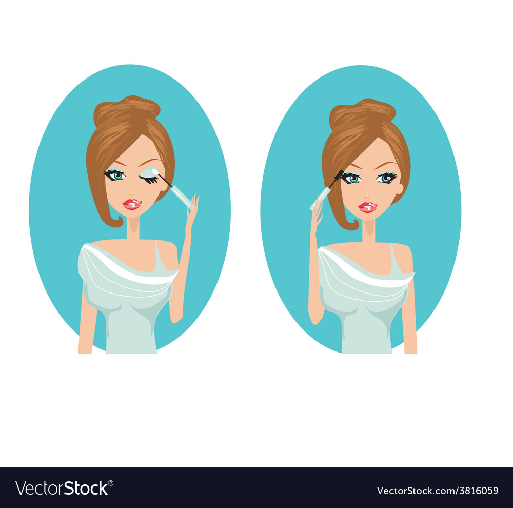 Make-up girl vector | Price: 1 Credit (USD $1)