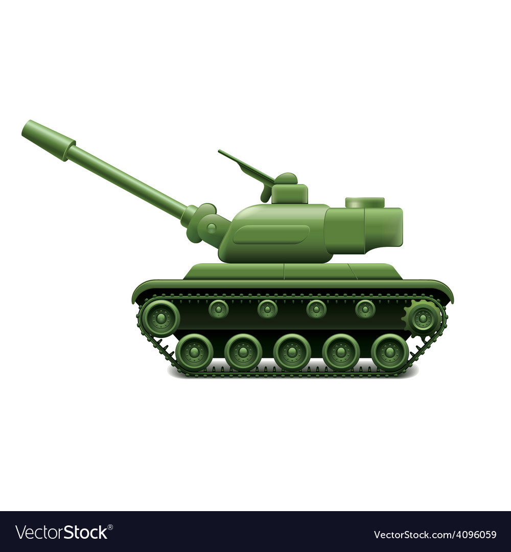 Military tank isolated vector | Price: 3 Credit (USD $3)