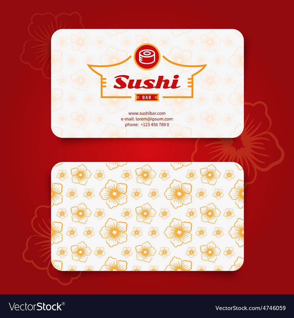 Sushi card vector | Price: 1 Credit (USD $1)