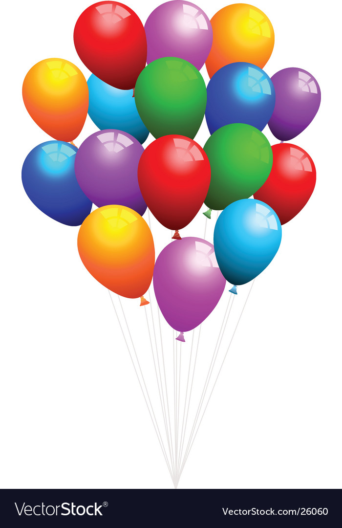 Balloons vector | Price: 1 Credit (USD $1)