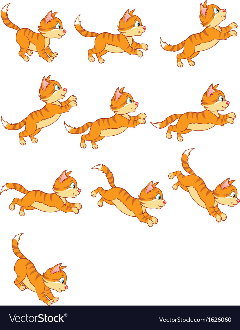 Cat jumping animation vector   Price: 1 Credit (USD $1)