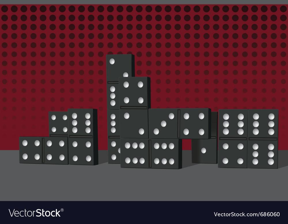 Domino buildings vector | Price: 3 Credit (USD $3)