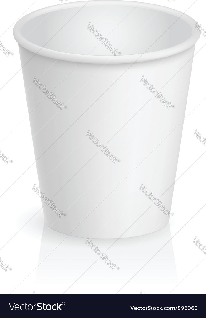 Empty cardboard cup vector | Price: 1 Credit (USD $1)