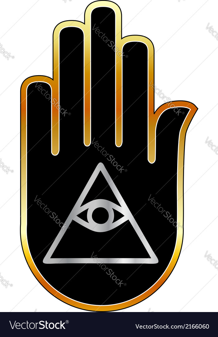 Eye of providence in hand- religious symbol vector | Price: 1 Credit (USD $1)