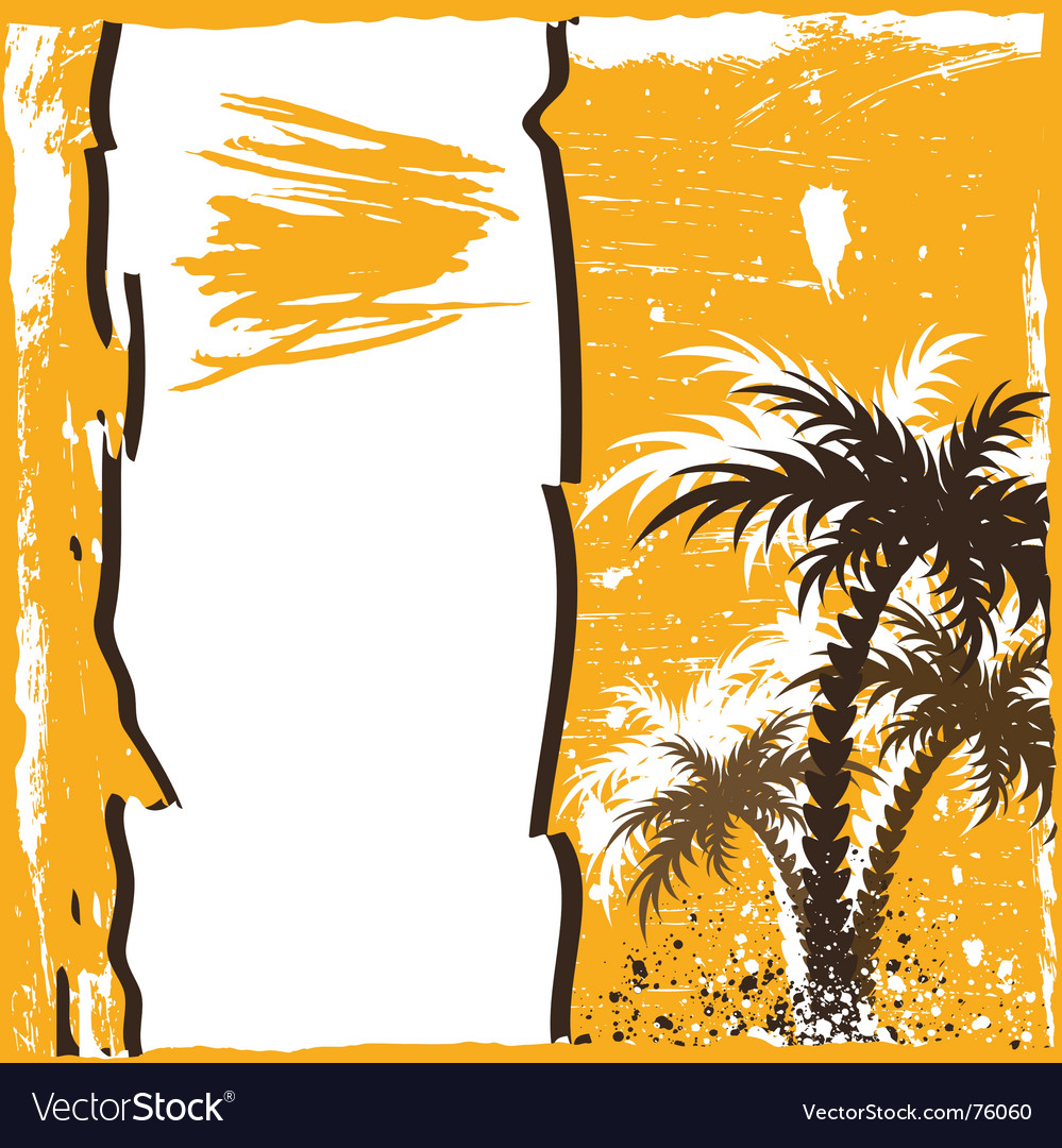Grunge palm vector | Price: 1 Credit (USD $1)