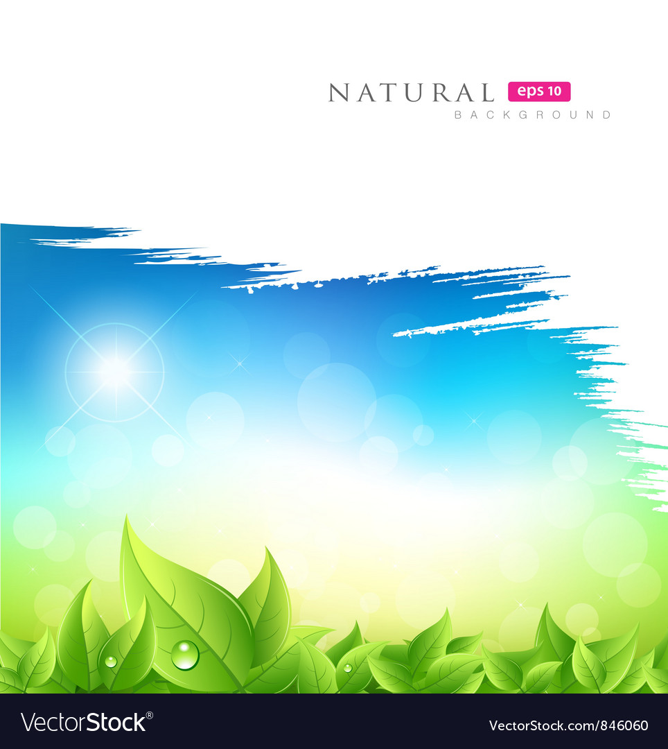 Painting brush green natural background vector | Price: 1 Credit (USD $1)