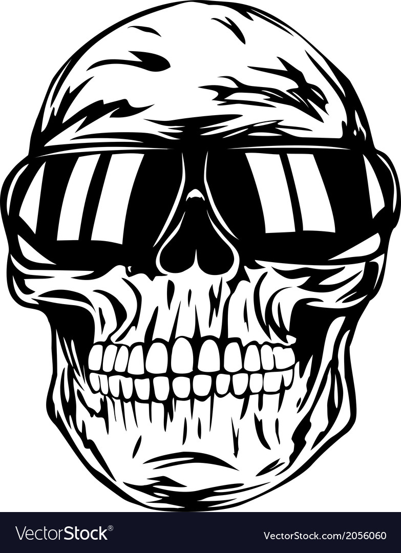 Skull in sunglasses vector | Price: 1 Credit (USD $1)