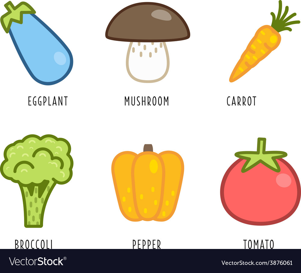Cartoon vegetables and fruits vector   Price: 1 Credit (USD $1)